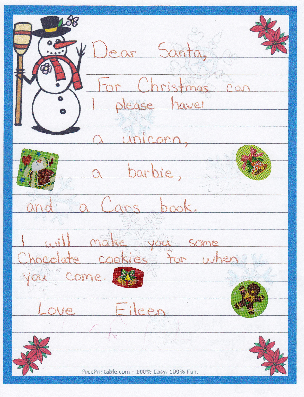 Dltk Letters From Santa