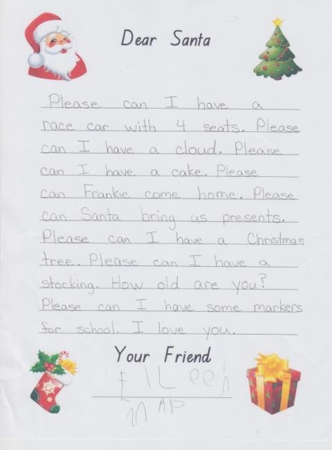 Eileen's santa letter 2