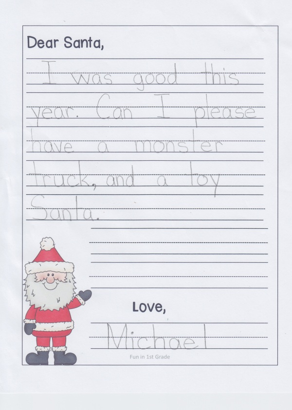 Michael's santa letter 3